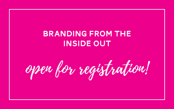 Branding from the Inside Out Registration