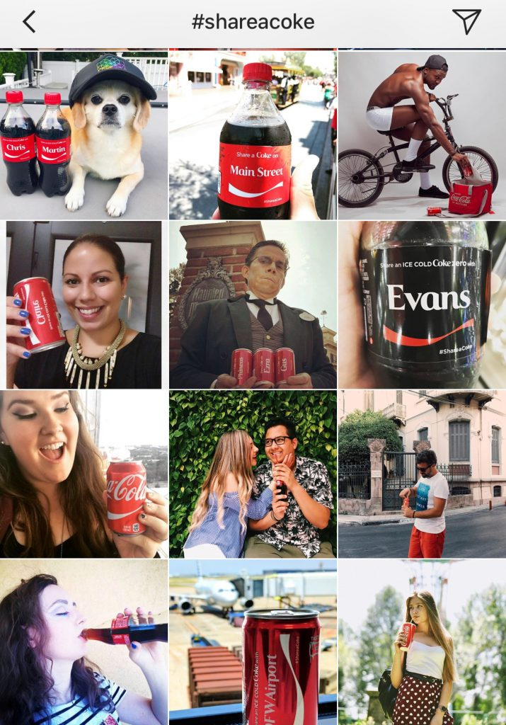 share a coke on instagram