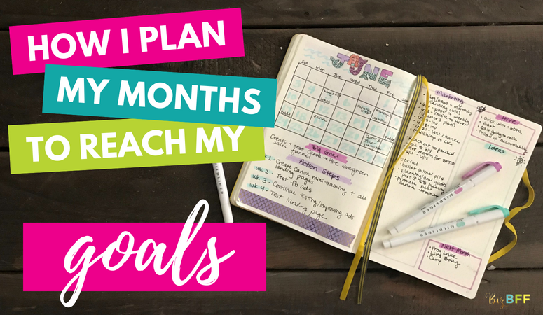 How I plan my months to reach my goals