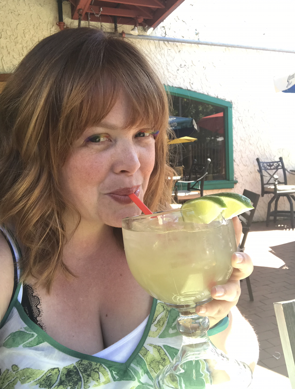 Emily Roach with a margarita