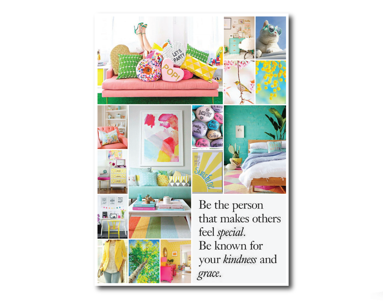 unlock your brand style cheerful mood board